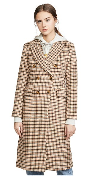 Club Monaco jemma coat in camel multi