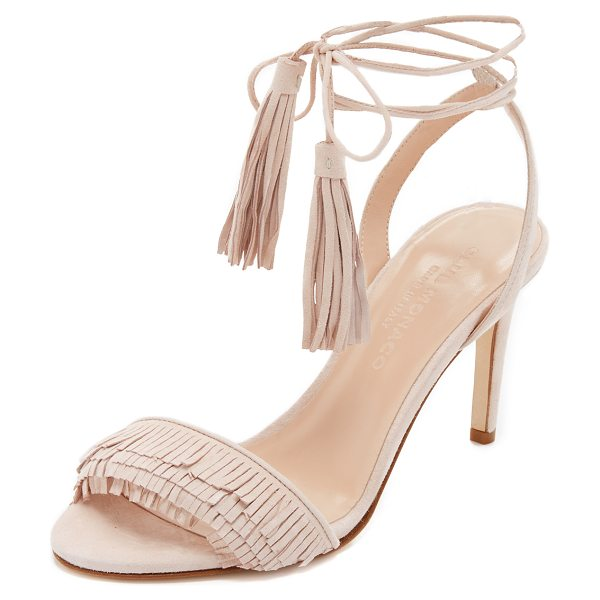 CLUB MONACO Journie fringe sandals - Fringe accents the vamp of these luxe suede Club Monaco...