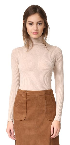 Club Monaco julie turtleneck in latte heather - A simple, versatile Club Monaco turtleneck sweater....