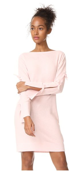Club Monaco nahille sweater dress in pink - This lightweight Club Monaco sweater dress is styled...