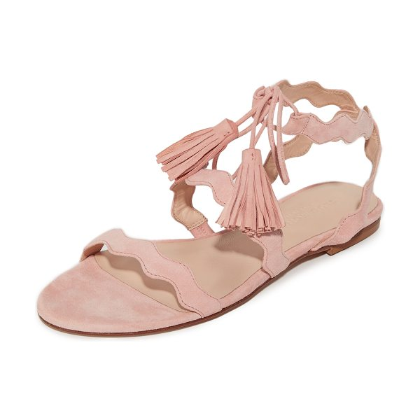 Club Monaco tiphanie sandals in pink - Slim, scalloped straps add a charming touch to these...