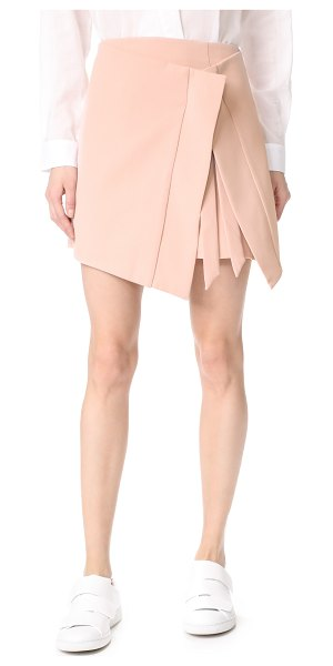 C/Meo Collective because you do skirt in blush - A modern C/Meo Collective skirt cut from sharp-seamed...