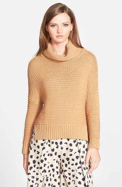 C/Meo Collective C/meo limelight cowl neck sweater in tan - Put a little something between you and the cooler temps...