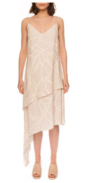 C/MEO COLLECTIVE C/meo other one asymmetrical slipdress - An asymmetrical hemline and tiers of flowing fabric lend...