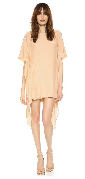 C/Meo Collective Disposition dress in tan - Draped, asymmetrical panels bring soft volume to this...