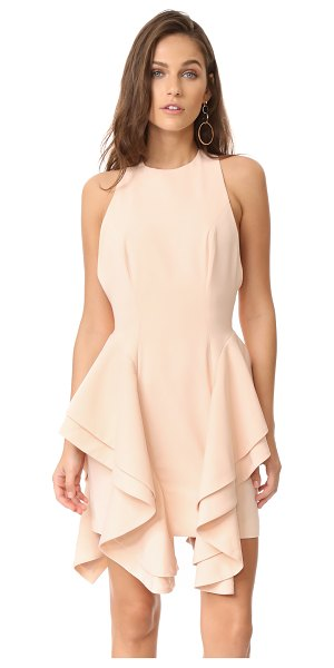 C/Meo Collective enlighten dress in pearl - Ruffled overlays lend an asymmetrical look to this C/Meo...