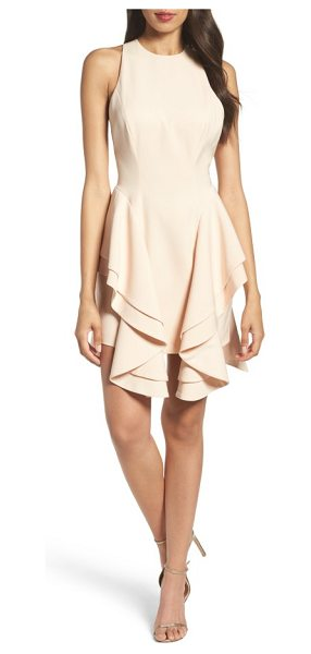 C/Meo Collective enlighten minidress in pearl - Tiered ruffles cascade from the Basque waist of this...