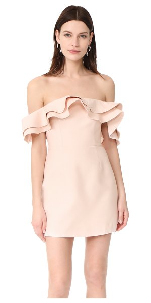 C/Meo Collective first impression mini dress in blush - NOTE: Unique sizing advice. Tiered ruffles trace the...