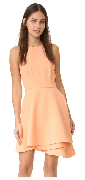 C/Meo Collective fools gold dress in blush - Overlay gathers lend a cascading effect to the skirt of...