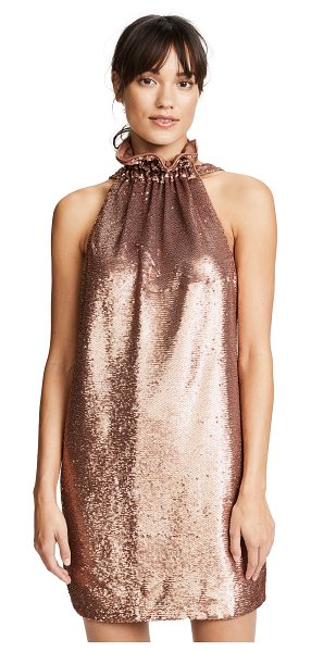 C/Meo Collective illuminated dress in copper - Tiny shimmering sequins cover this figure-skimming C/Meo...