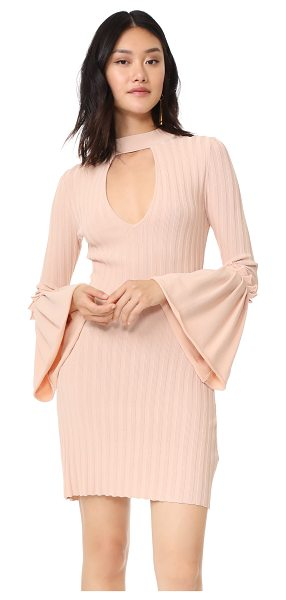 C/Meo Collective mind reader knit dress in shell - This wide-ribbed C/Meo Collective dress is styled with a...