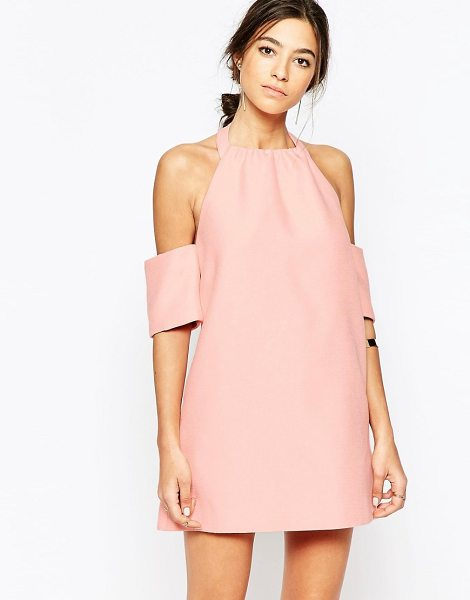 C/Meo Collective Perfect lie dress in pink in pink - Dress by C/meo Collective Lightweight woven fabric Cold...