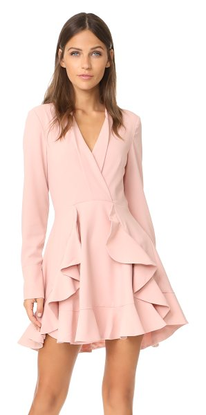 C/Meo Collective ultralight dress in dusty pink - Wavy ruffles embellish the flounced skirt of this...