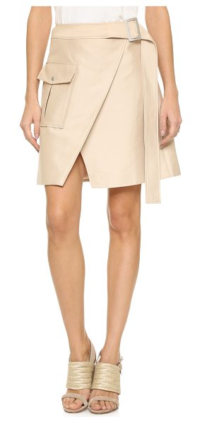 C/Meo Collective White walls skirt in bone - A flared C/Meo Collective skirt with crossover panels in...