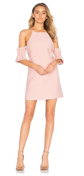 C/MEO Double Take Mini Dress in musk - Self & Lining: 100% poly. Hand wash cold. Fully lined....