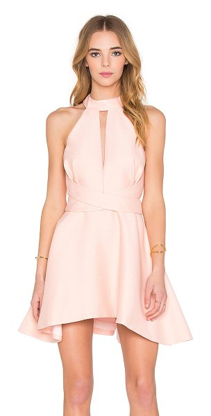 C/MEO I'm New Here Dress in pink - Self: 100% viscoseLining: 100% poly. Hand wash cold....