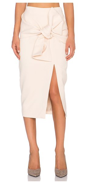 C/MEO Little love skirt in beige - Poly blend. Fully lined. Wrap front with tie detail....