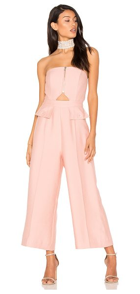 C/MEO No Limit Jumpsuit in pink - Self & Lining: 100% poly. Dry clean only. Cut-out detail...