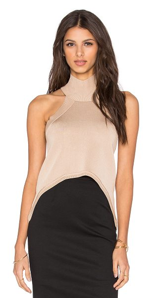 C/MEO The happening crop top in tan - 80% rayon 20% poly. Hand wash cold. CAME-WS114....