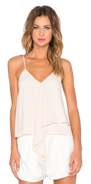 C/MEO The waves tank in cream - Self & Lining: 100% poly. Hand wash cold. Adjustable...