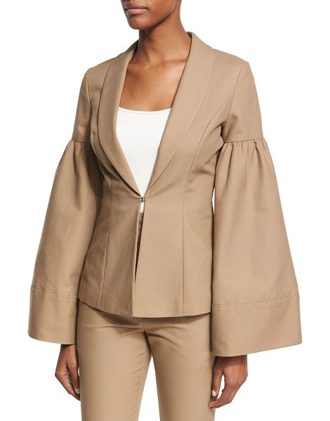 CO. Bell-Sleeve Shawl-Collar Jacket - Co blazer jacket in compact cotton. From the Fall 2017...