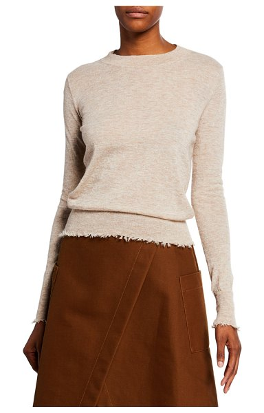 Co. Frayed Bateau Neck Sweater in beige
