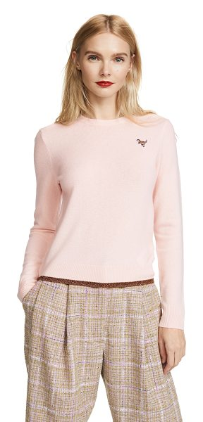 COACH 1941 crewneck sweater in peach - Fabric: Fine knit Metallic threads Solid-color design...