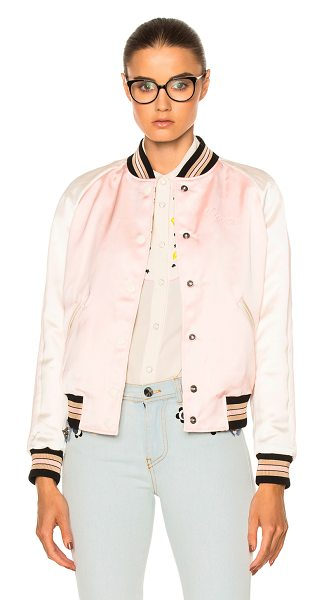 COACH 1941 Reversible Varsity Jacket in pink multi - Self: 100% polyContrast Fabric 1: 100% viscoseContrast...