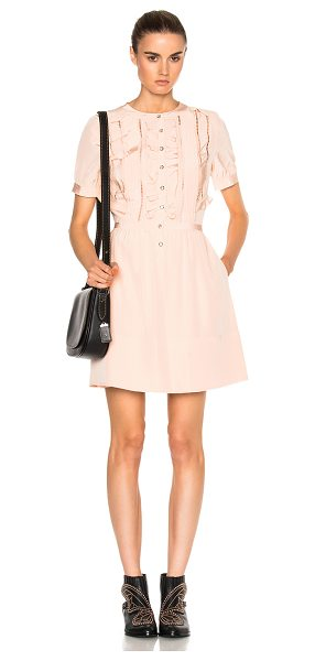 COACH Ruffle Dress in pink - 100% poly.  Made in China.  Dry clean only.  Fully...