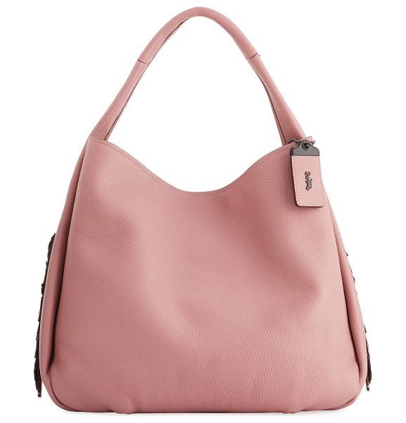 COACH Bandit 39 Tea Rose Hobo Bag in dusty rose - Coach glove-tanned leather shoulder bag with dark...