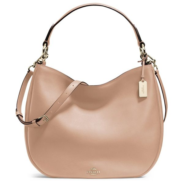 COACH nomad leather hobo bag in saddle - A timeless signature style, with a roomy silhouette. Top...