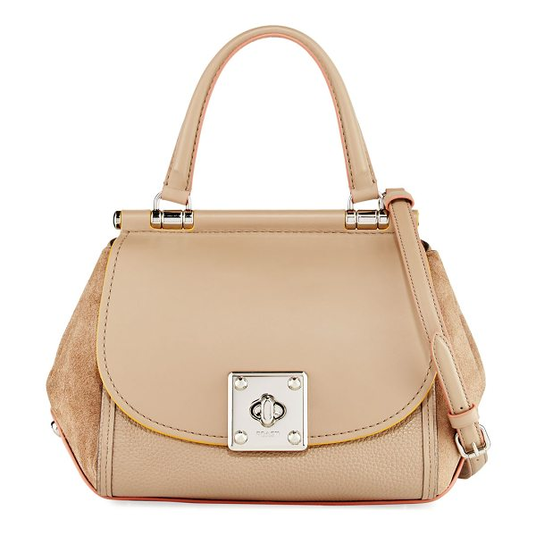 COACH Drifter Mixed Leather Top-Handle Bag in stone chstnt meln