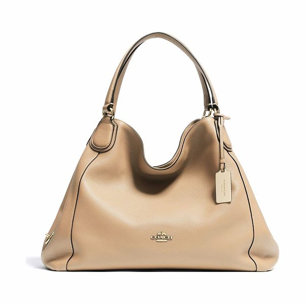 "COACH Edie shoulder bag in nude - dIncludes dust bag13.75""W X 11""H X 6.25""DLeatherImported"