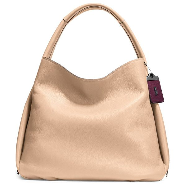 COACH 1941 glovetanned pebble leather hobo bag - Unstructured pebbled leather hobo bag with interior...