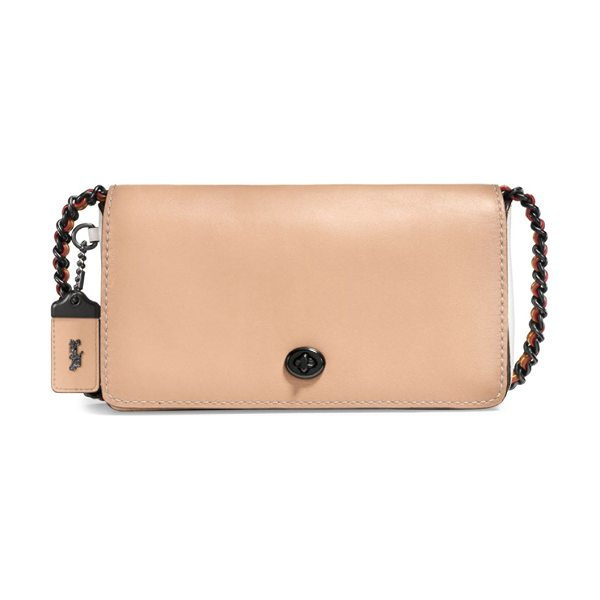 COACH 1941 leather crossbody bag in nude - Structured crossbody bag in glovetanned leather....