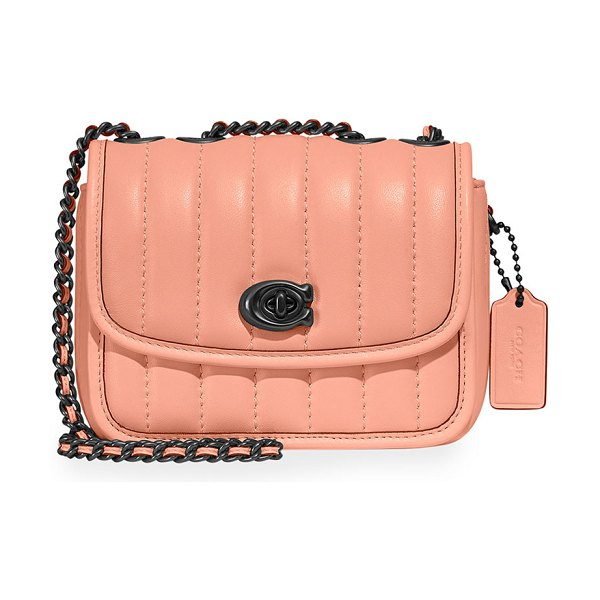 COACH Madison Quilted Leather Chain Shoulder Bag in faded blush