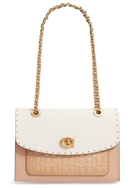 COACH parker signature coated canvas in beige