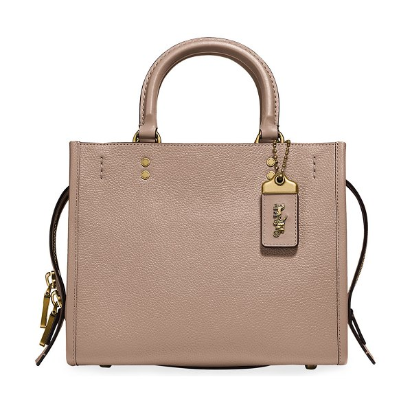 COACH Rogue 25 Pebbled Leather Satchel Bag in taupe