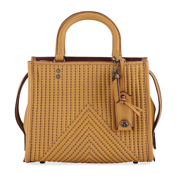 COACH Rogue 25 Quilted Tote Bag with Rivets - Coach 1941 tote bag in quilted leather with rivet trim....