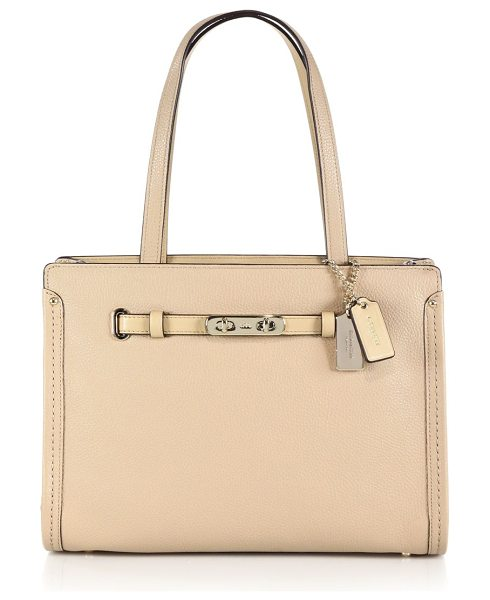 COACH Swagger small leather tote in nude - The perfect companion for work or weekend, this...