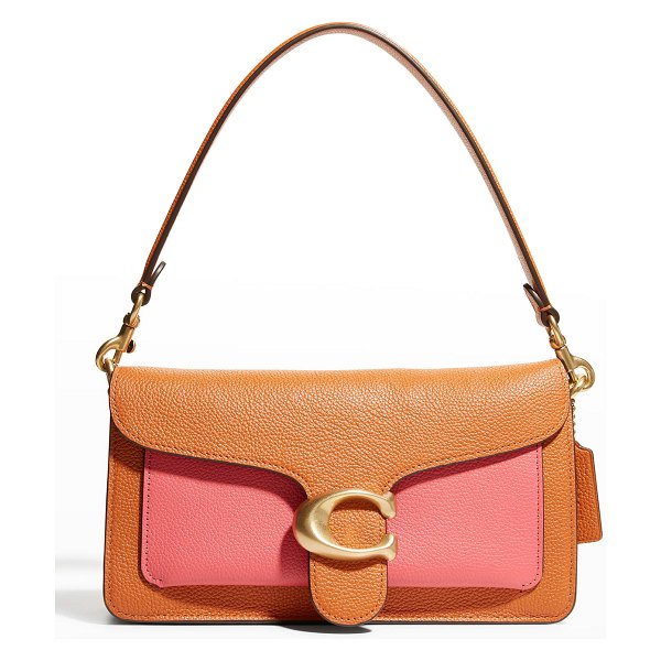 COACH Tabby Colorblock Mixed Leather Shoulder Bag in b4watermelon mult