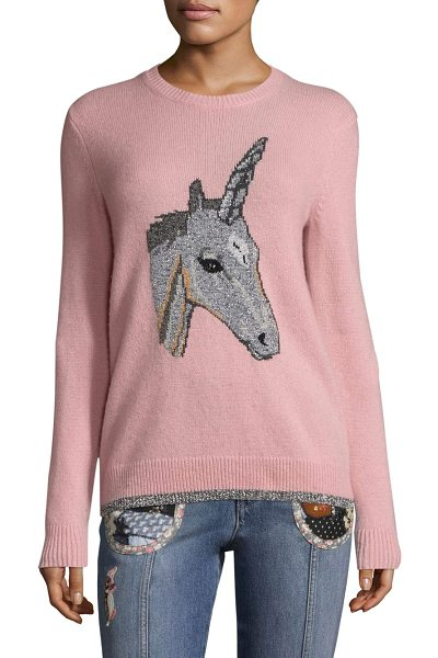 COACH 1941 unicorn intarsia sweater in pink - From the Coach 1941 Collection. Cashmere-blend sweater...