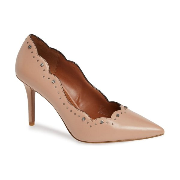 COACH waverly studded pump in pink
