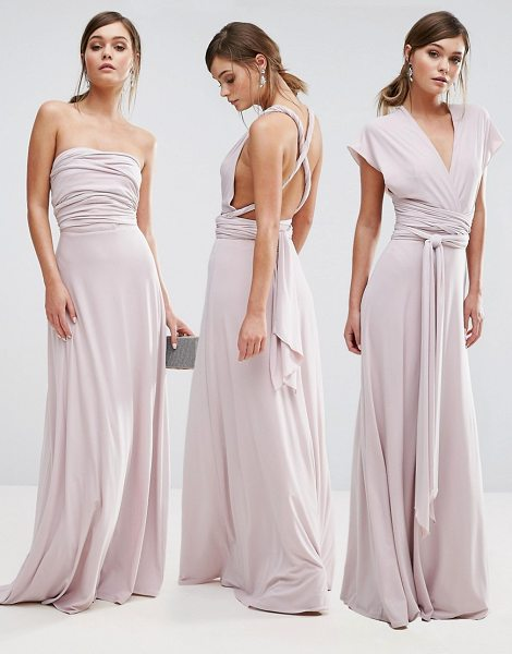 "Coast Corwin Multi-Tie Maxi Dress in pink - """"Maxi dress by Coast, Smooth stretch fabric, Comes with..."