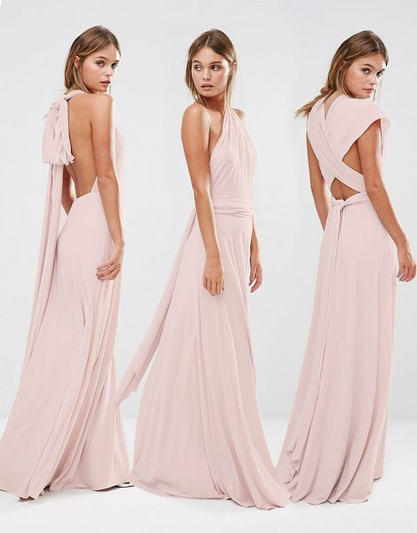 Coast Corwin Multiway Maxi Dress in pink - Maxi dress by Coast, Woven fabric, Comes with two long...