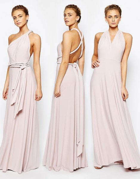 Coast Corwin V Neck Multiway Maxi Dress in Blush in pink - Maxi dress by Coast, Smooth fabric, Fully lined, Comes...