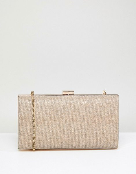 Coast Gold Glitter Box Clutch Bag in gold - Clutch bag by Coast, To have and to hold, Detachable...