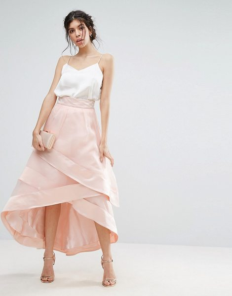 Coast Lorenza Drape Skirt in pink - Skirt by Coast, Soft-touch woven fabric, Silky-feel...