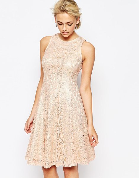 COAST Metallic lace eliza dress in blush - Evening dress by Coast Metallic lace Fully lined Zip...