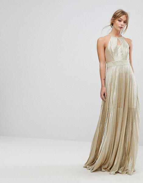 Coast Tyler Maxi Dress in gold - Maxi dress by Coast, Mini-length lining, Metallic thread...
